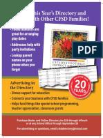 CFSD Directory 2017-2018 Flyer