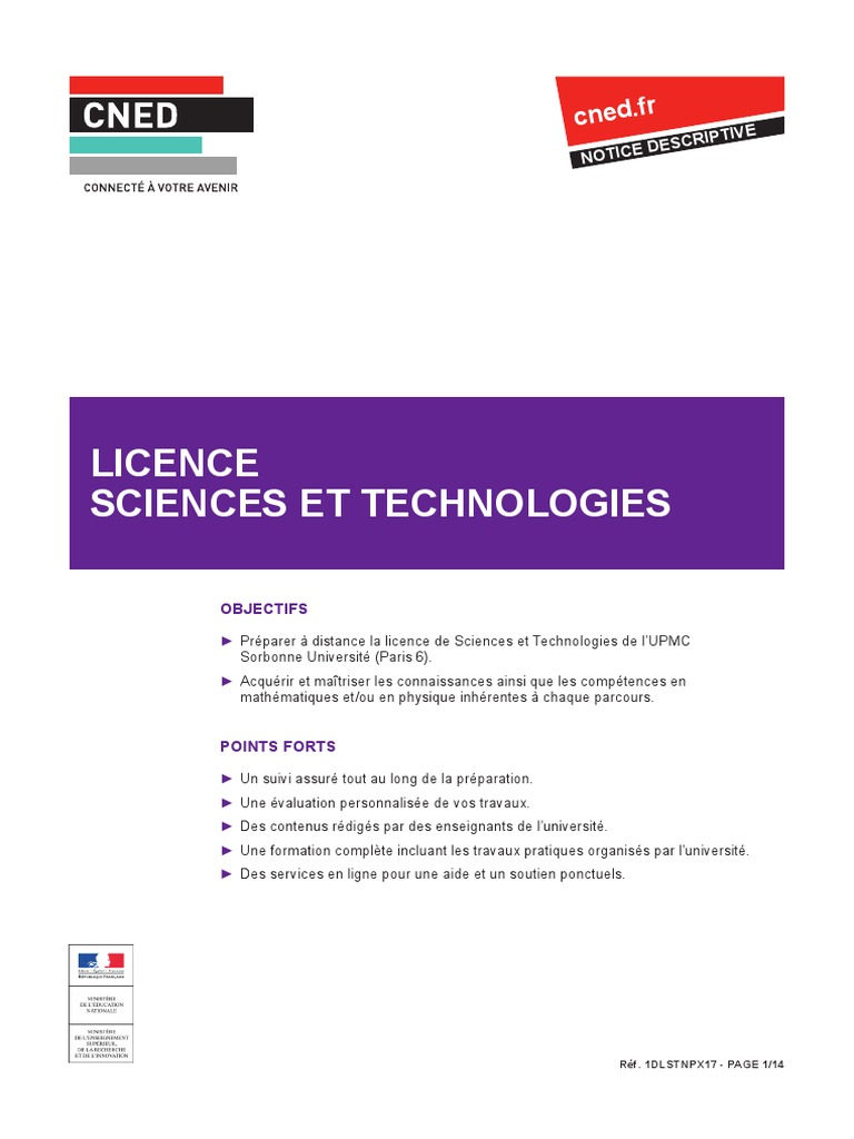 Carte Accord Upmc.Licence Cned Upmc Maths