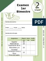 2do Grado - Examen Bloque 1 (2017-2018)