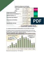estadísticas de producción de petróleo en Bolivia
