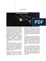 Ficha de Trabajo Sistema Solar