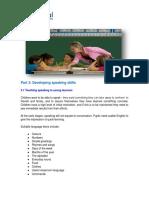 Developing Speaking Skills