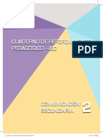 Comunicación Secundaria 2. Cuaderno de Reforzamiento Pedagógico - JEC