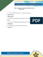 13 Evidencia 04 Taller, Costeo de La Cadena de Distribución Física Internacional