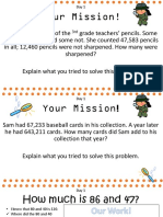 word problems and place value mat add sub