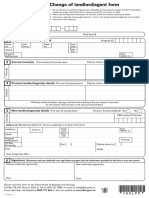 Change of Landlord Agent Form