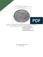 Le Fonti Del Diritto Finanziario in Europa e Il r