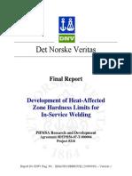 DNV in-service Welding