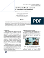 development of wearable robotic arm input for 5 DOF articulated arm manipulator