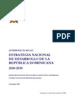 Ley Estrategia Nacional de Desarrollo