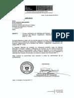 Tercera Verificación de Viabilidad del Proyecto Mejoramiento de la Carretera San Marcos -Cajabamba -Sausacocha. Con código SNIP Nº 11432