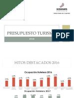 Presupuesto Turismo 2018
