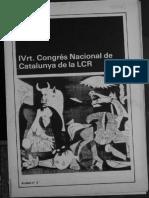 1981 IV Congreso LCR Cataluña