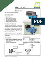C35 Positive Displacement FlowMeter
