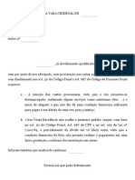 Pedido de Parcelamento de Multa (Penal) - Modelo de Petição _ Modelo Inicial