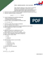 1ºlista de Exercício - Geo Analítica - Turma TX (1)