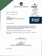 Solicitud Del Presidente de La Republica Para Que La Asamblea Nacional Apruebe El Protocolo de Montevideo Sobre Compromiso Con La Democracia en El Mercosur Ushuaia II 05-04-2013 0