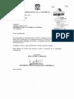 Solicitud Del Presidente de La Republica Para Que La Asamblea Nacional Apruebe El Convenio de Seguridad Social a Suscribirse Entre Ecuador y Peru 10-04-2013 0