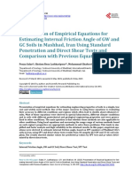 Presentation of Empirical Equations for Estimating Internal Friction Angle of GW and GC Soils in Mashhad, Iran Using Standard Penetration and Direct Shear Tests and Comparison with Previous Equations