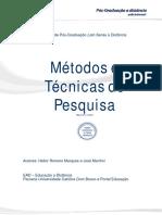 Metodos e Técnicas de Pesquisa