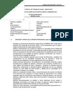 Anexo 2 Esquema de Informe de Trabajo de Campo Aplicador