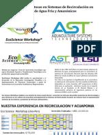 Experiencias Exitosas en Sistemas de Recirculación en Peces de Agua Fría y Amazónicos