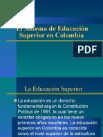 El Sistema de Educacin Superior en Colombia