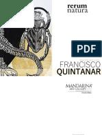 Catalogo Francisco Quintanar Martinez . Rerum Natura . Mandarina Arte Gallery