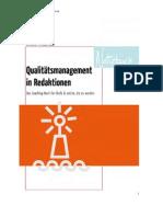 Notizbuch zum Handbuch Qualitätsmanagement in Redaktionen