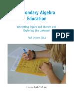 Secondary Algebra Education