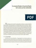 Perez, Sergio - La arqueología y la genealogía tal y como yo las entiendo