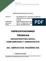 04_Especificaciones Técnicas Servicios Higienicos