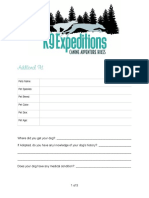 k9 expeditions addtional pets