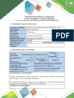 Guía de Actividades y Rúbrica de Evaluación - Fase 2 - Introducción Al Análisis Espacial