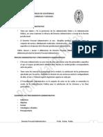 4. Derecho Procesal Administrativo y Procedimientos