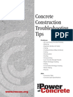 00 Concrete Construction Troubleshooting Tips