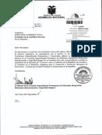 Informe de Comision Sobre La Solicitud Del Presidente de La Republica Para Que La Asamblea Nacional Apruebe La Denuncia Del Convenio Entre Ecuador y Argentina Para La Promocion y Proteccion Reciproca de Inversiones 2