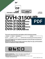 Pioneer Dvh-3150ub Dvh-3190ub Crt4283 Car Dvd Reciever