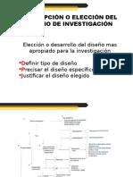Concepción o Elección Del Diseño de Investigación.