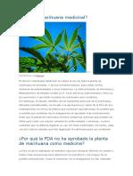 Qué Es La Marihuana Medicinal