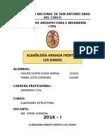 Albañileria Armada Frente a Los Sismos