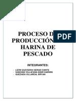 Producción de Harina de Pescado