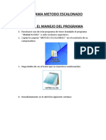 Programa Metodo Escalonado