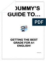 A Dummys Guide to Basic English Analysis