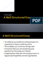 a well structured essay.ppt