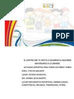 Afiche Promocional Tarde Deportiva