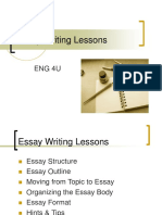 Essay Writing Lessons