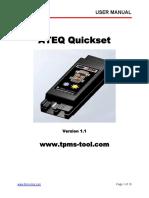 New Quickset User Manual Version 1 1