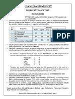 Dsu Sample Test 2017