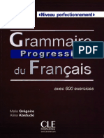 Grammaire Progressive Du Fran 231 Ais - Niveau Perfectionnement